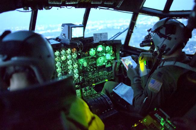 C-130 Hercules Aircraft cockpit