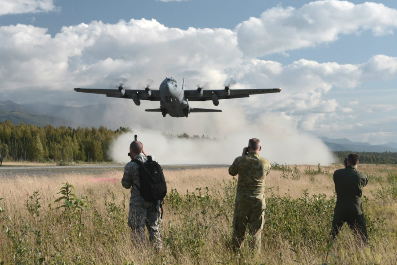 C-130 photographers landing
