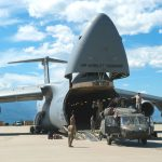 C-5 Galaxy Helicopter unload