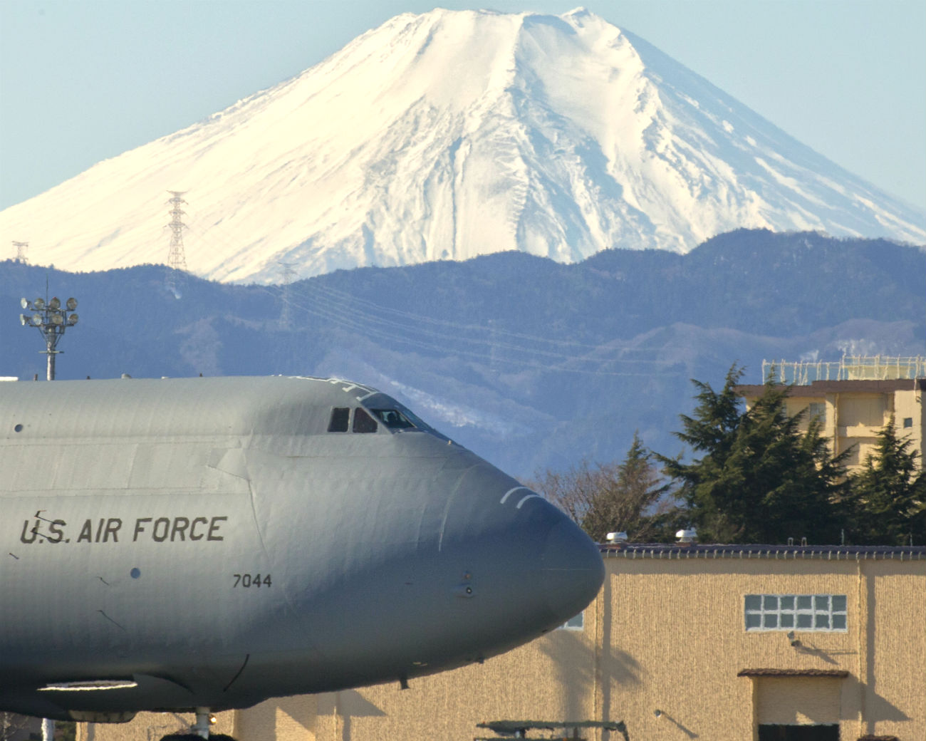 C-5 Galaxy Parked Mountain