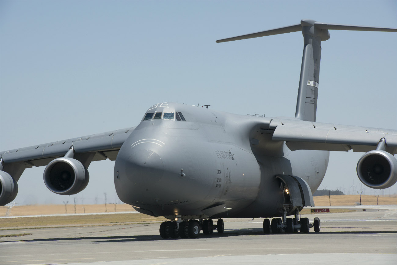 C-5 Galaxy Images Prepares for takeoff