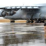 C-5 Galaxy Rainy landing