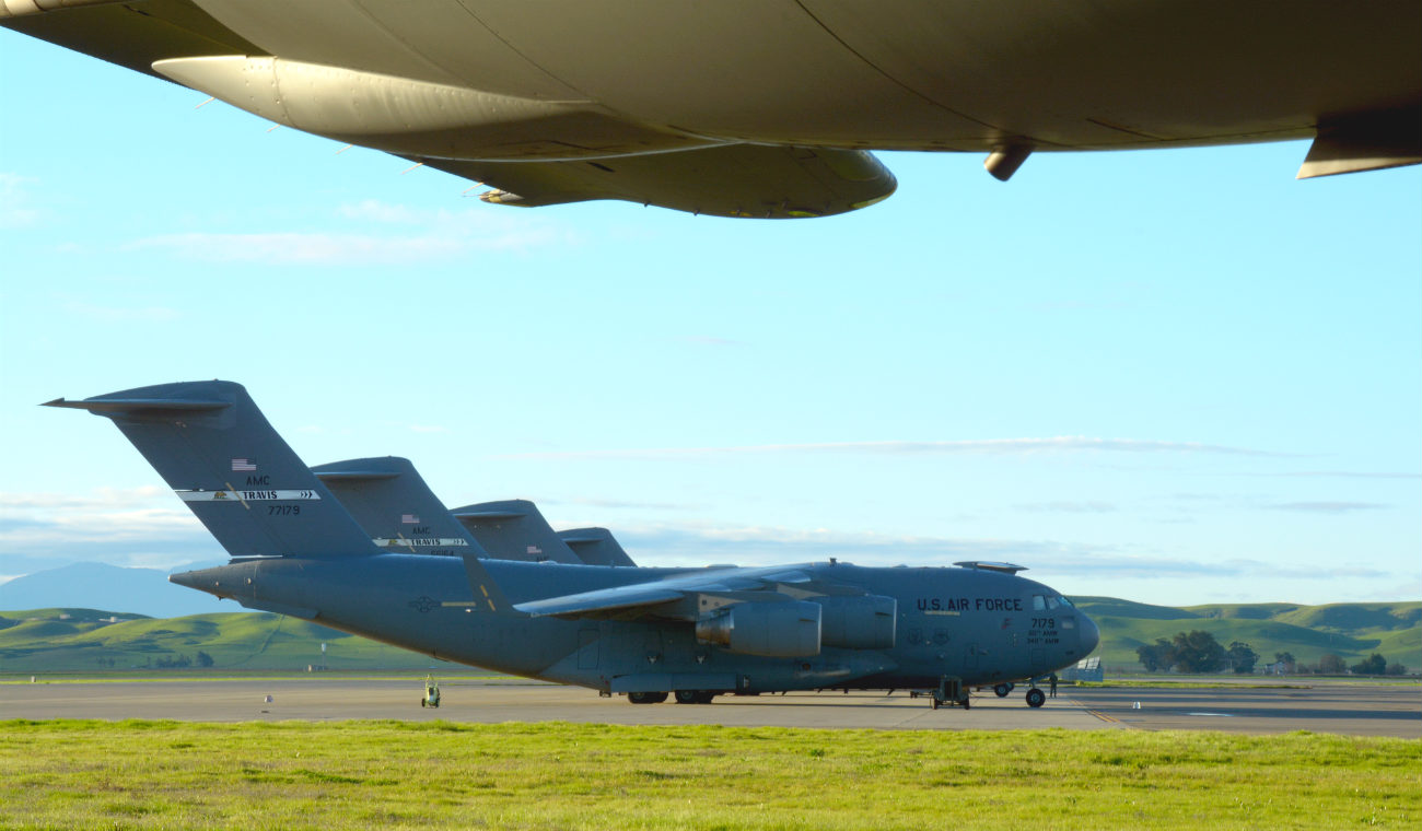 C-5 Galaxys parked