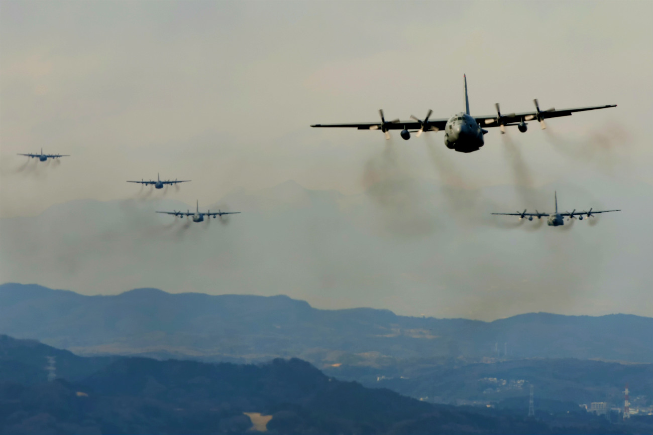 C-130s in Air C-130 Hercules Images