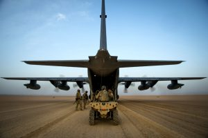 C-130 Loads All-Terrain Vehicle