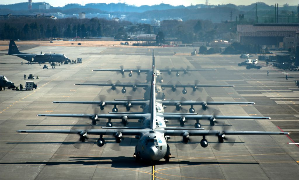 C-130 Hercules cargo aircraft
