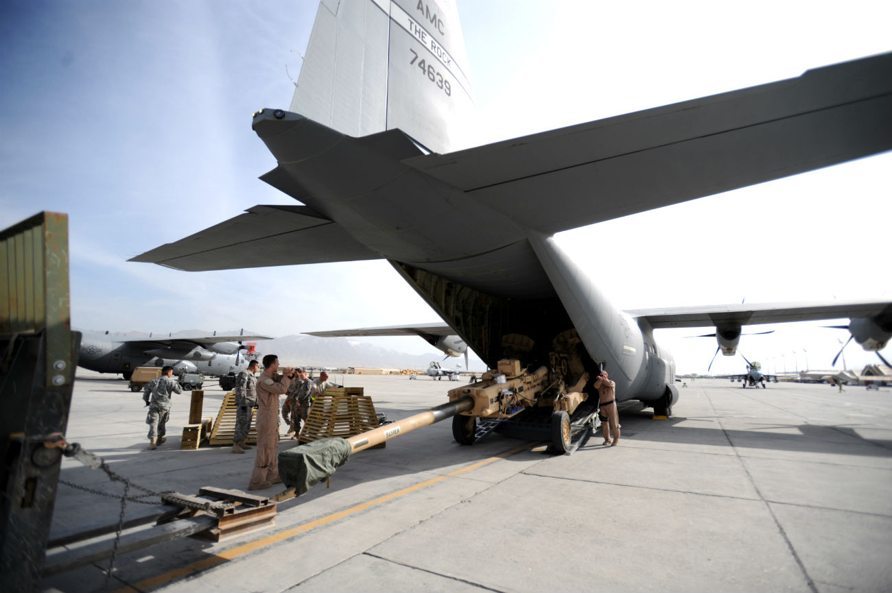 C-130 Hercules Loading Weapon