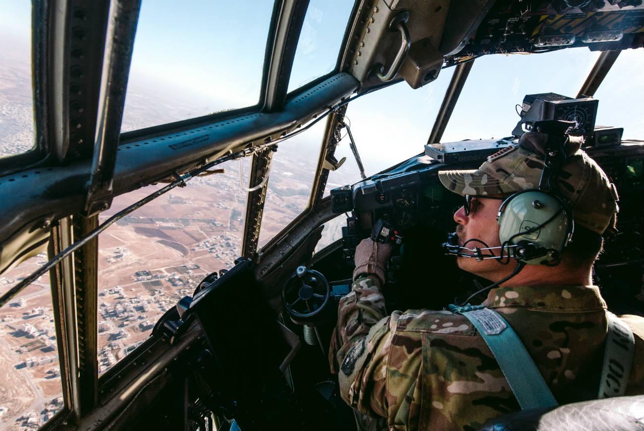 C-130 Cockpit View