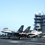 F-14 Tomcat Lands Aircraft Carrier