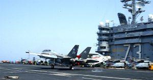 F-14 Tomcat Lands Aircraft Carrier