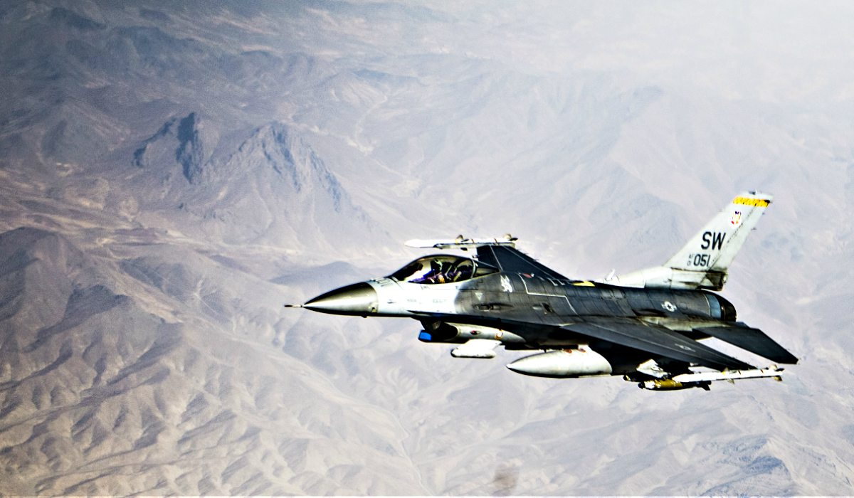 F-16 Fighting Falcon over Afghanistan