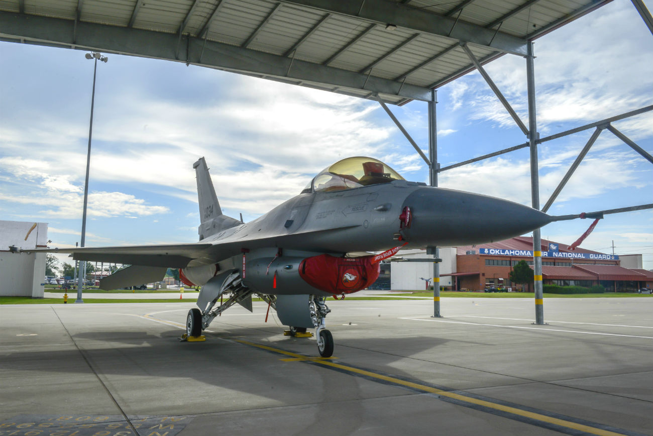 F-16 Fighting Falcon parked