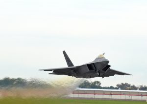 F-22 Raptor Departing