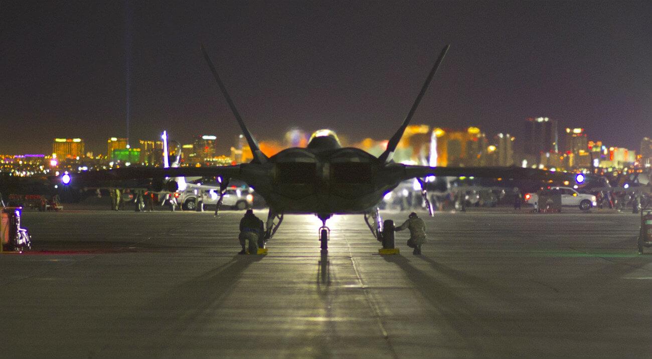 F-22 Raptor Preparing Takeoff