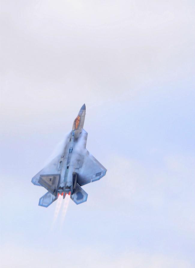F-22 Raptor Rising Afterburners