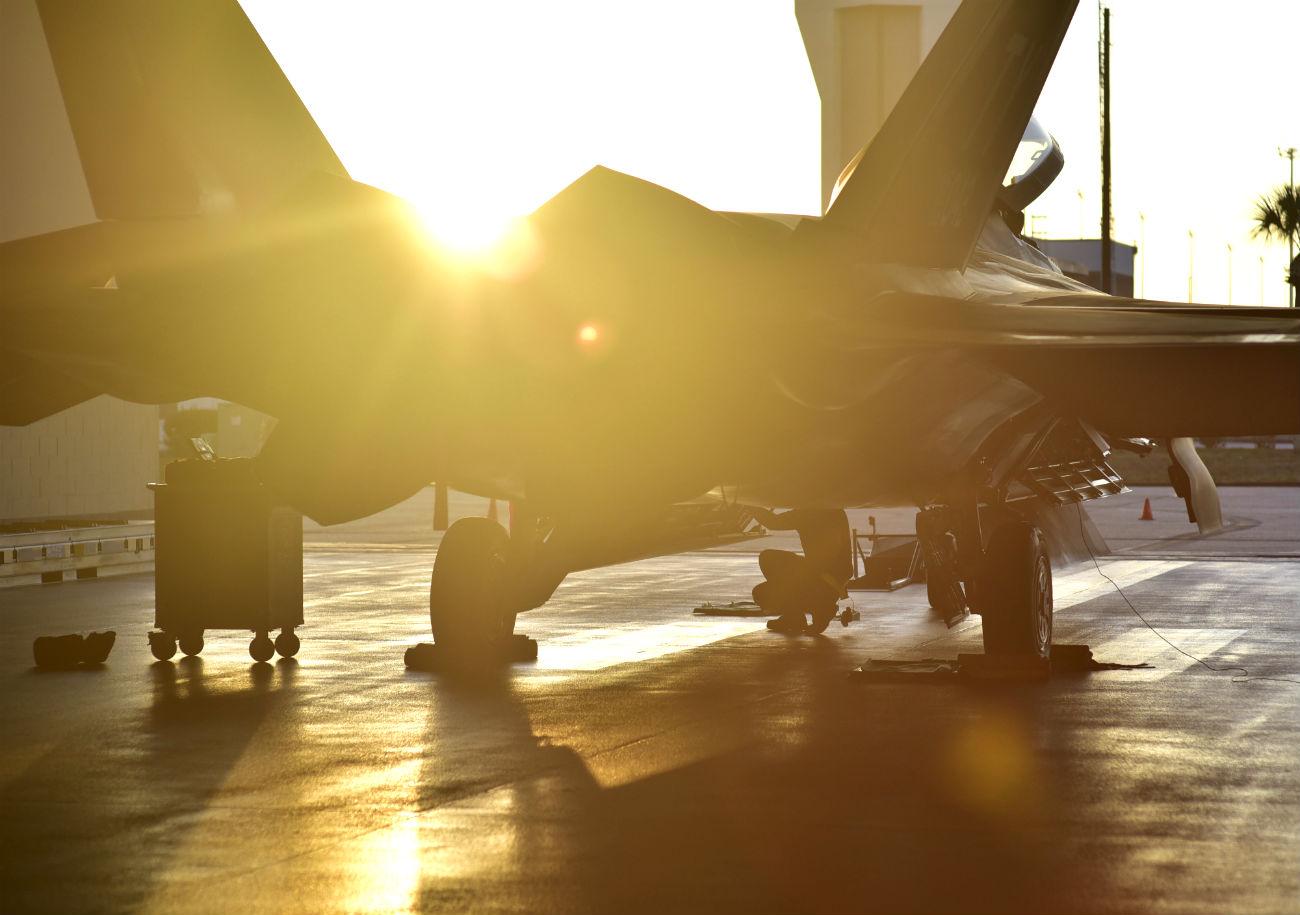 F-22 Raptor Sunset photo