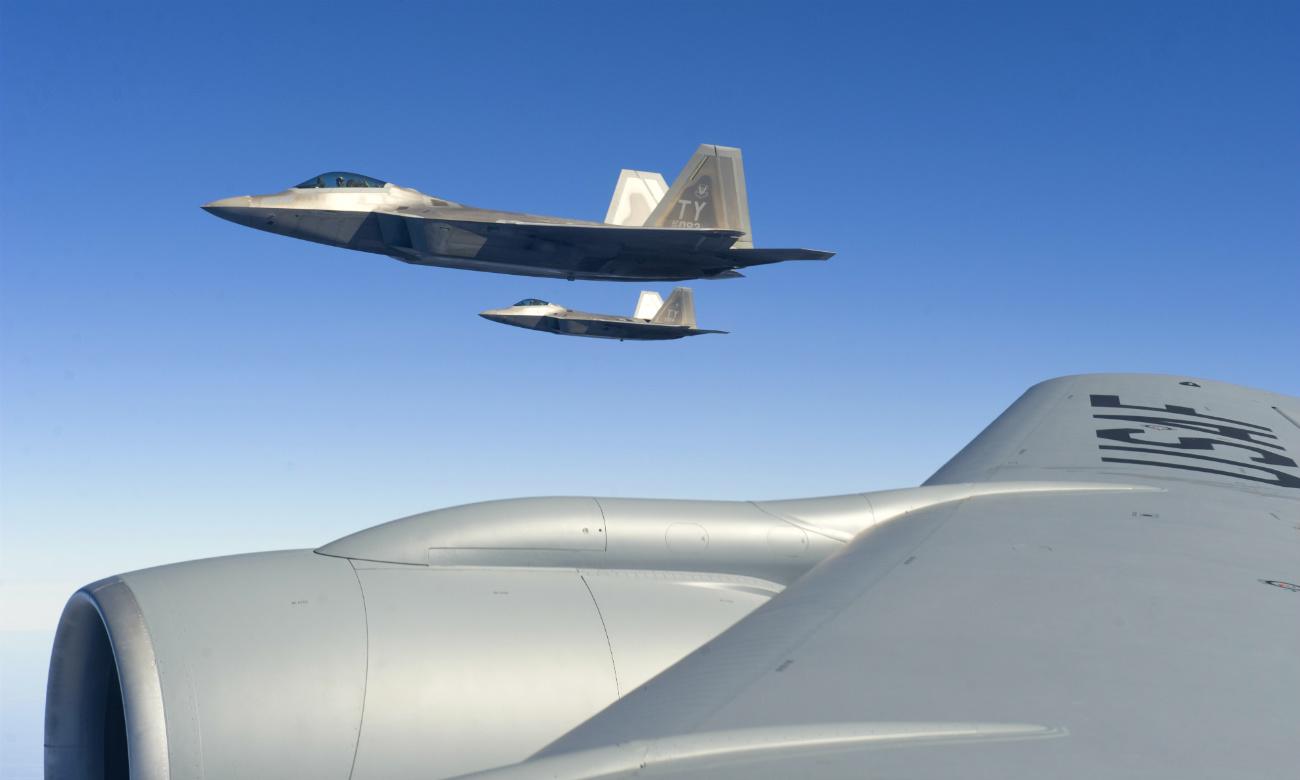F-22 Raptors Wing Fly By