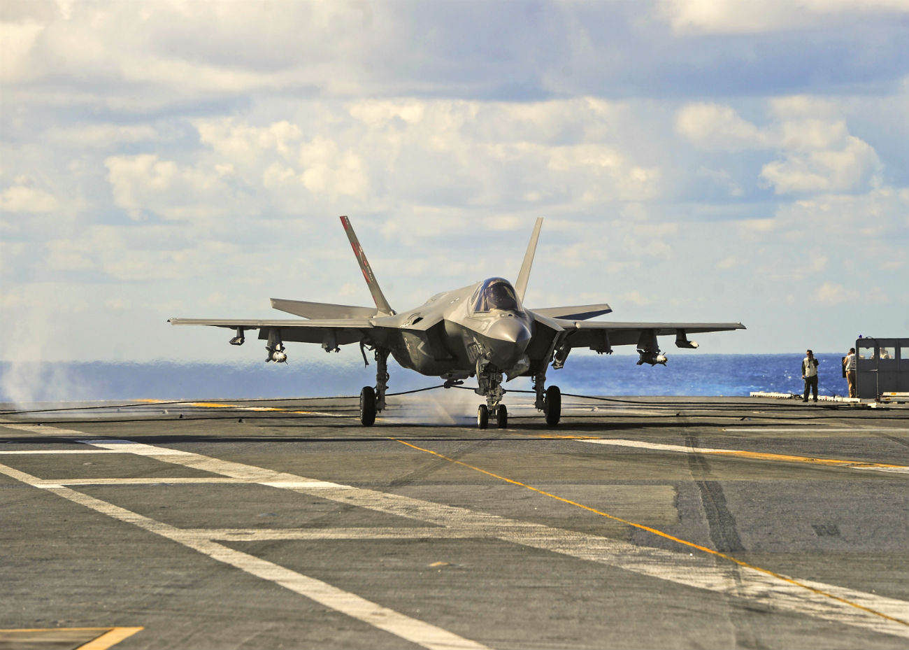 F-35 Images on Carrier