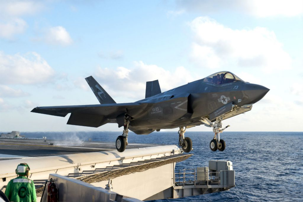 F-35 Takes off Carrier