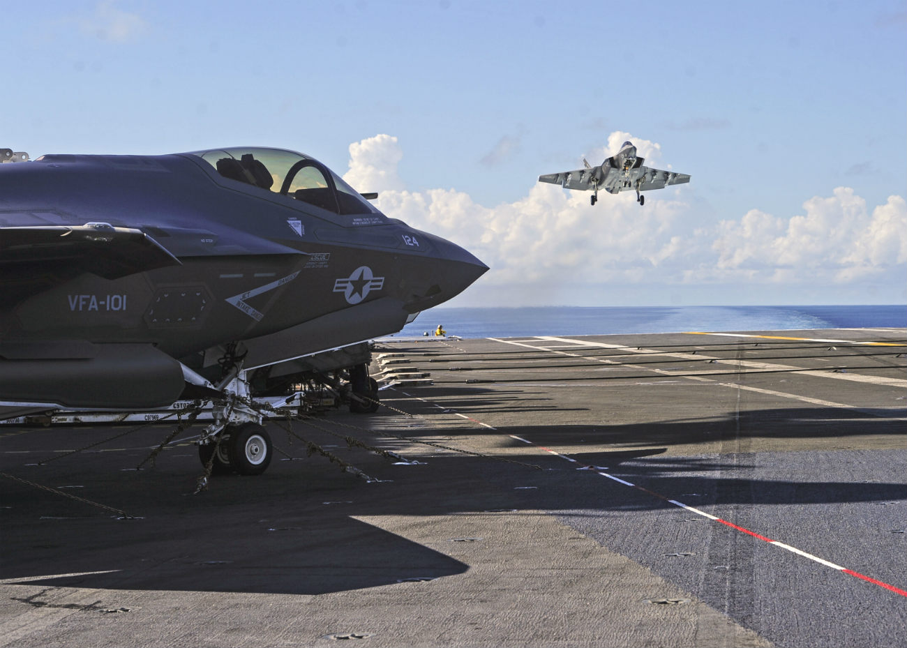 F-35s On Carrier landing