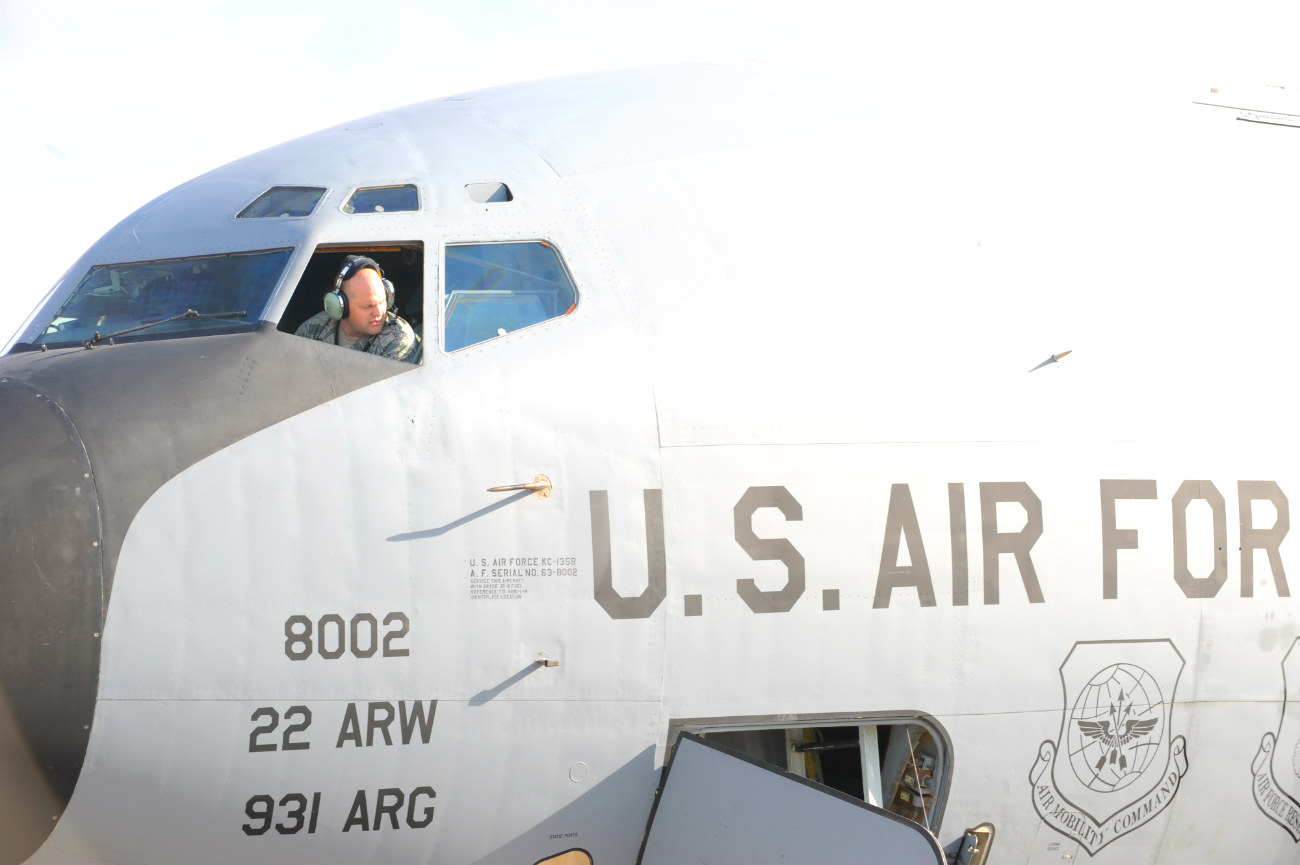KC-135 Pilot Window
