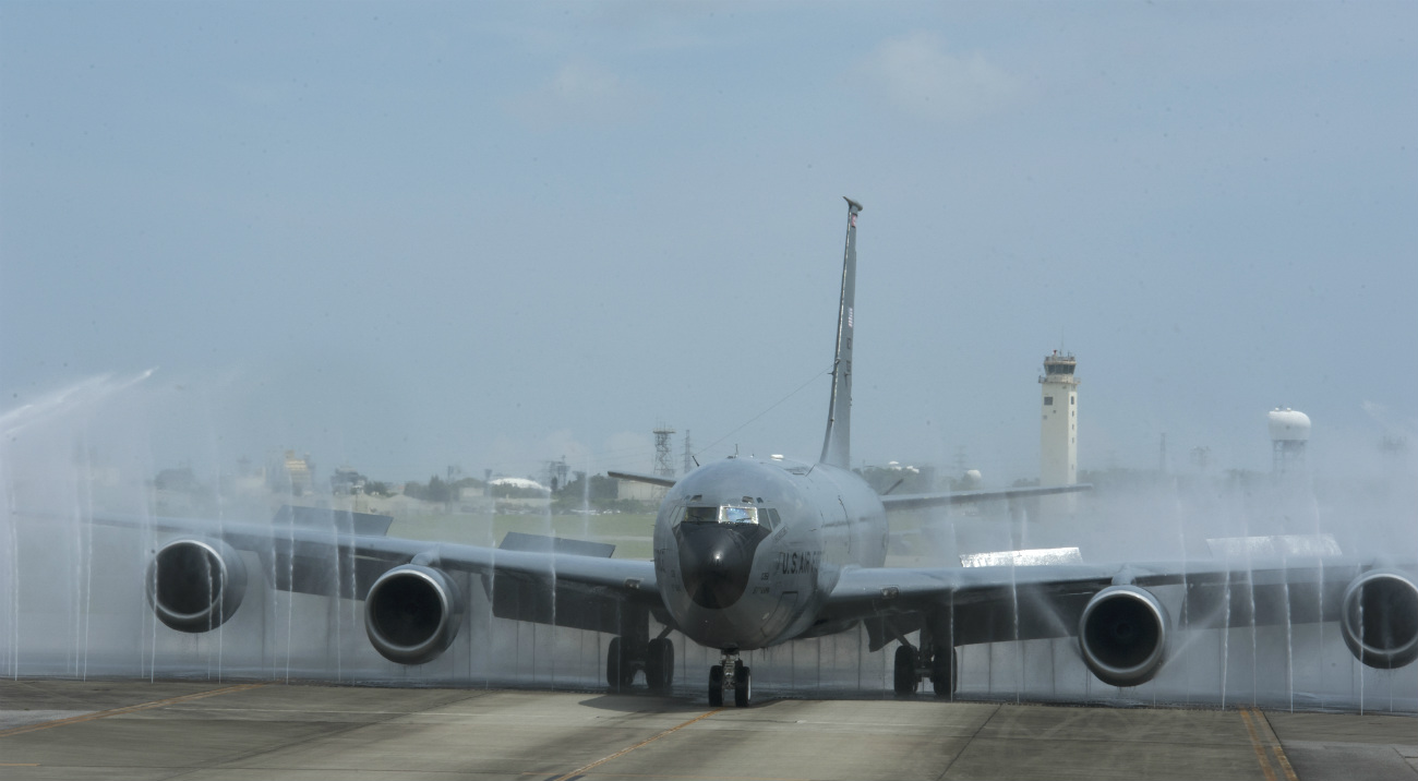 KC-135 birdbath