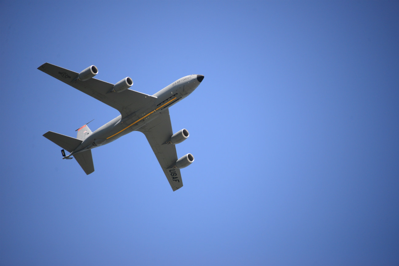 KC-135 in air
