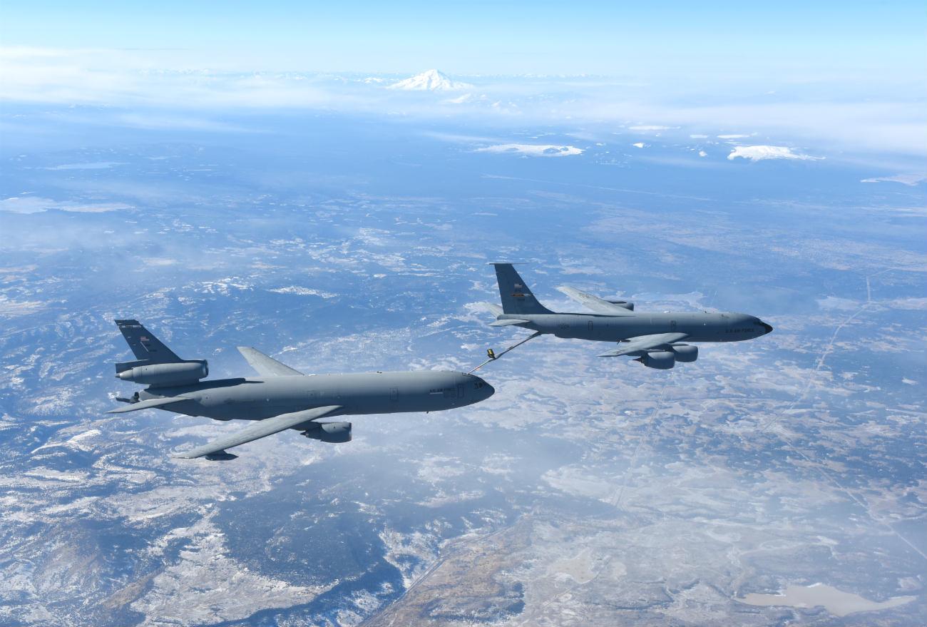 KC-135 refueling KC-10
