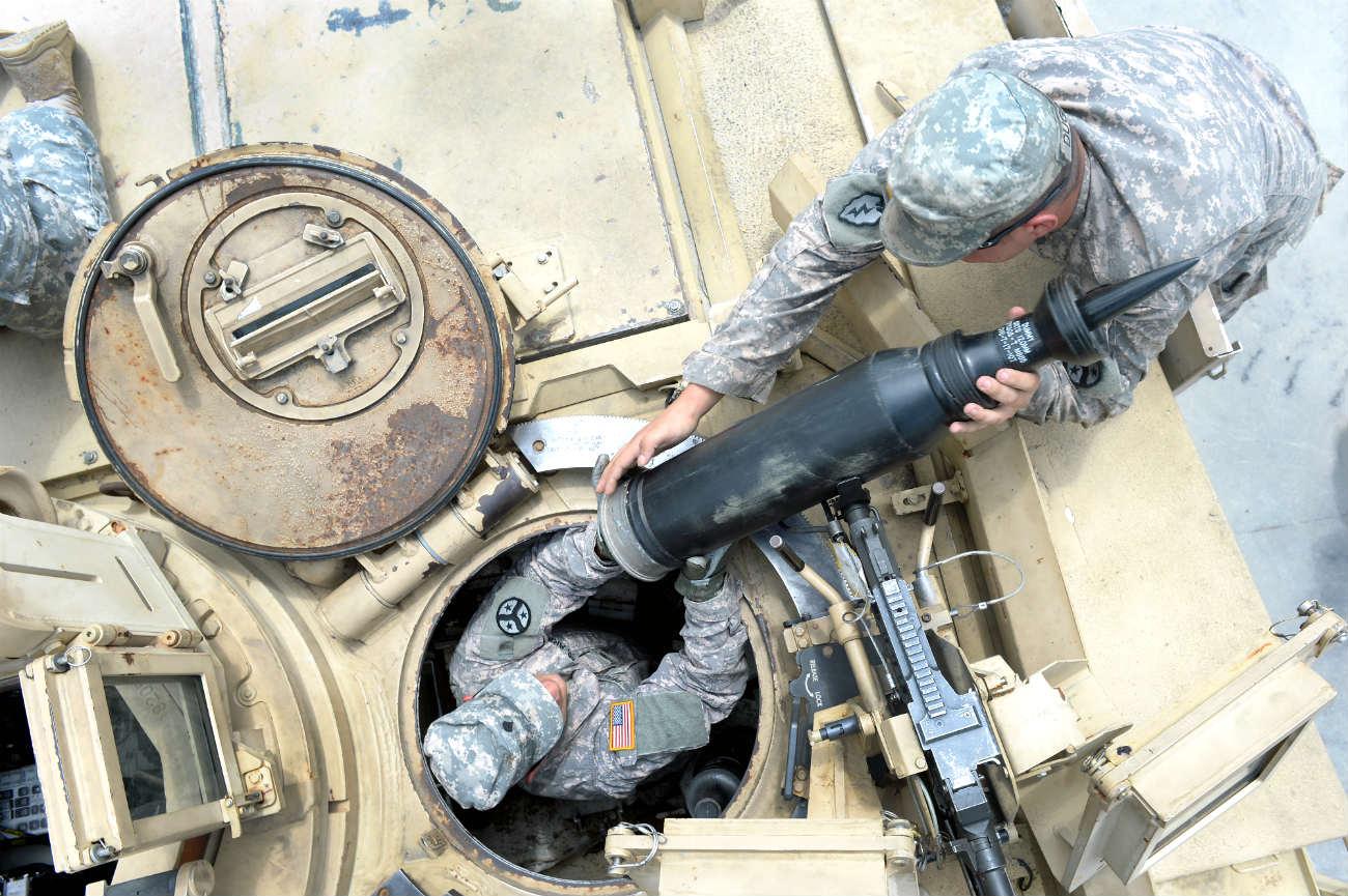 M1 Abrams Tank reloading