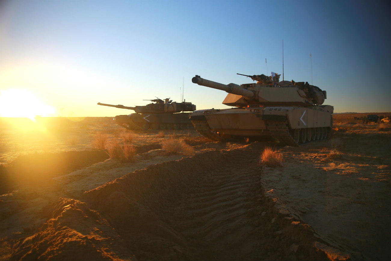 M1 Abrams Tank Images sunset