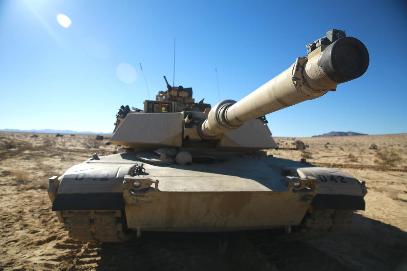 M1 Abrams tank gun