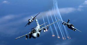 EA-6B Prowlers in Flight