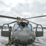 UH-60 Blackhawk snowy front