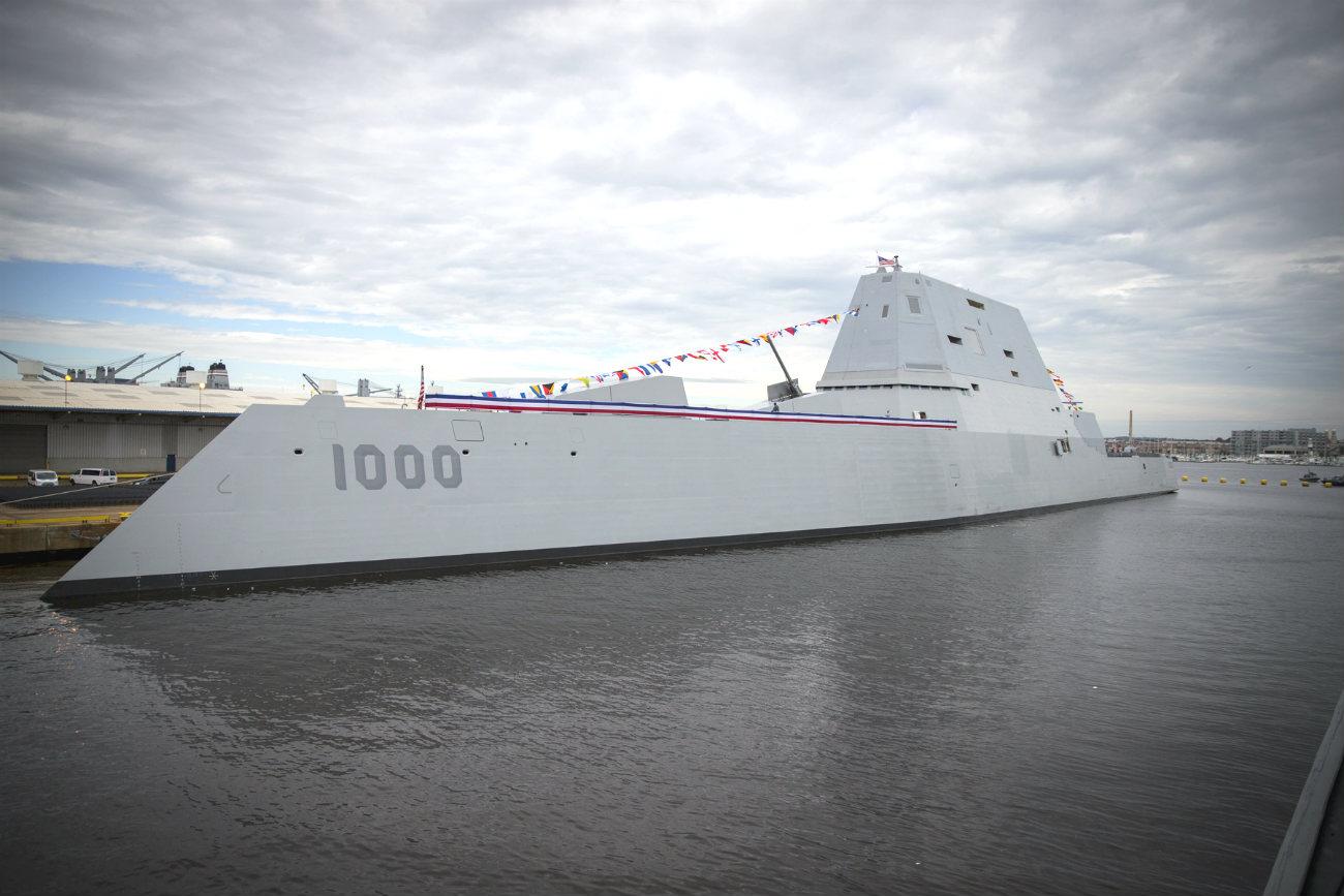USS Zumwalt Docked