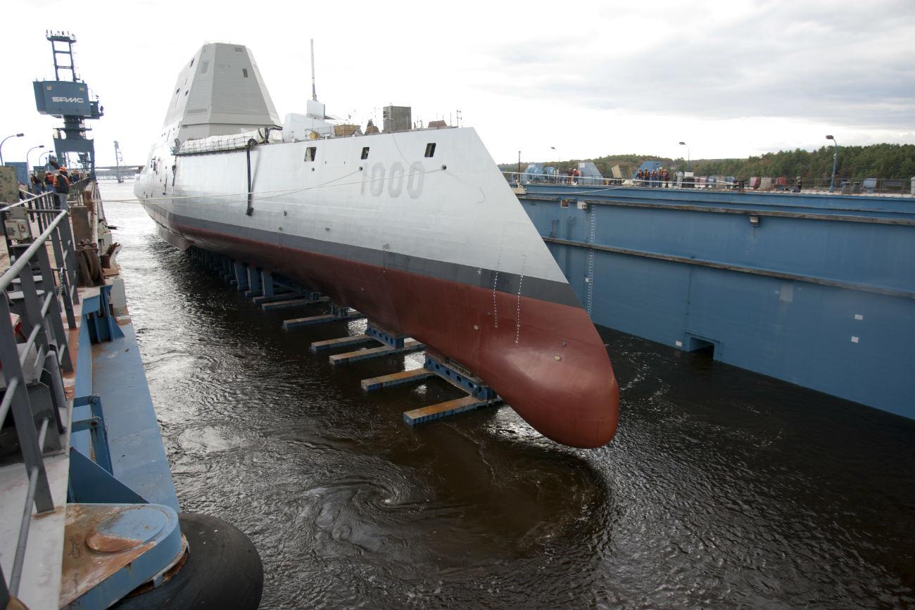 USS Zumwalt Dry Dock