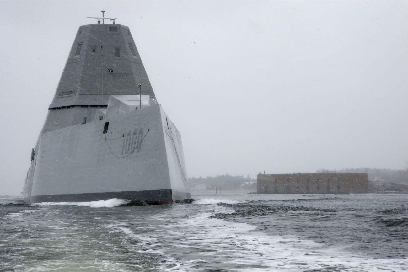USS Zumwalt Icy