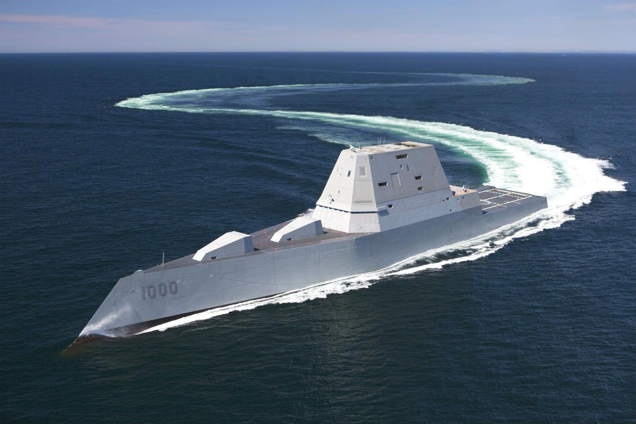 USS Zumwalt maneuverability