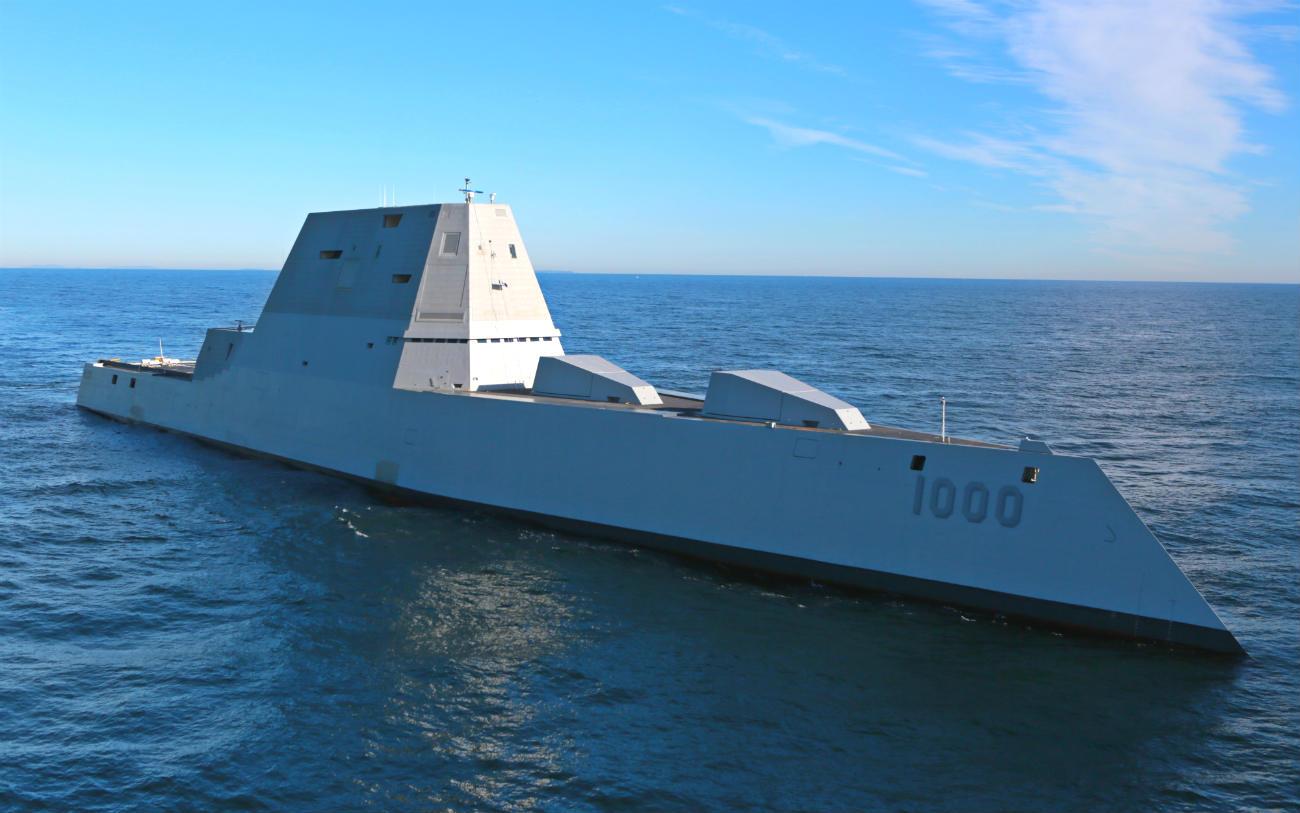 USS Zumwalt warship