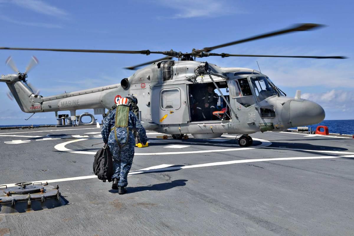 Westland WG-13 Lynx on aircraft carrier