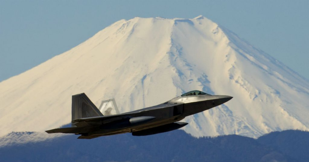 F-22 Raptor in Flight