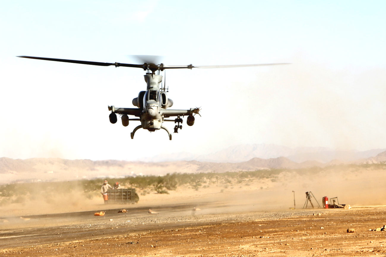 AH-1 Cobra Helicopter dust