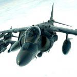 AV-8A Harriers in Flight