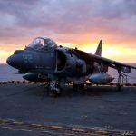 AV 8B Harrier carrier sunset