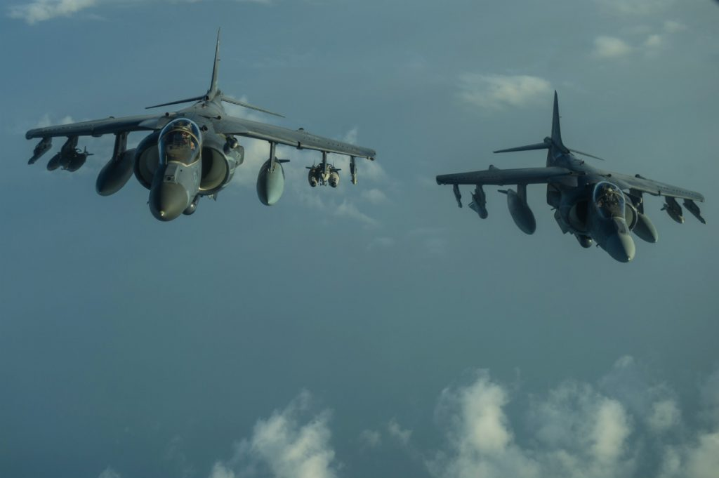 AV-8B Harrier fight jet