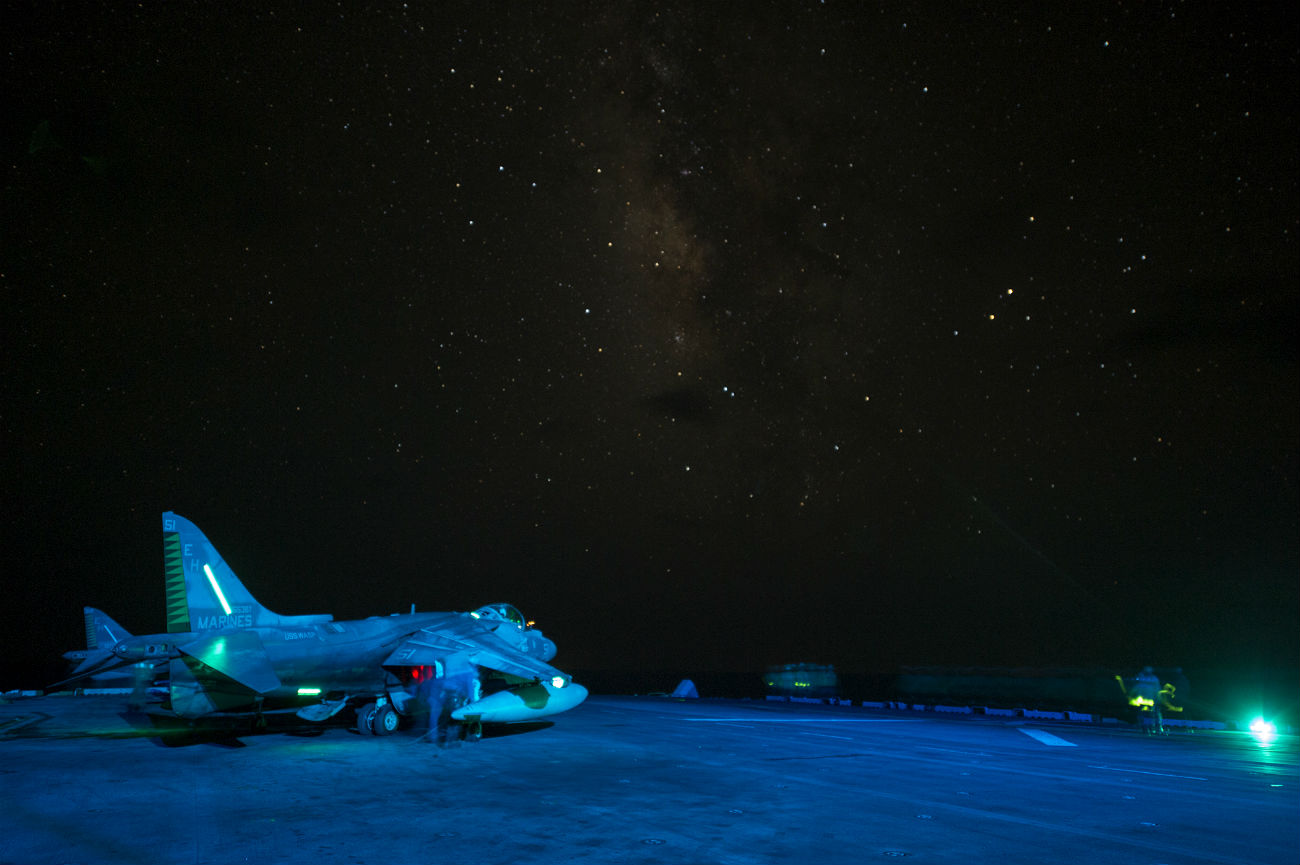 AV-8B Harrier night
