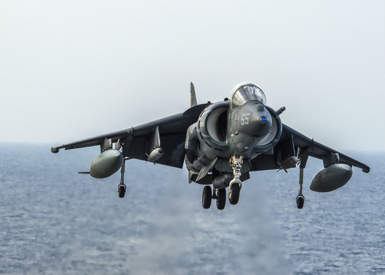 AV 8B Harrier vertical landing