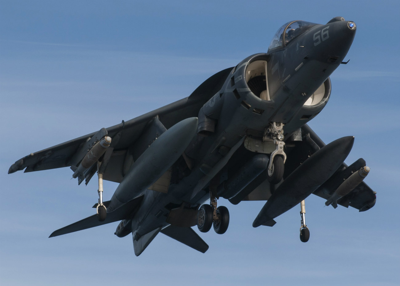 AV-8B Harrier vertical landing
