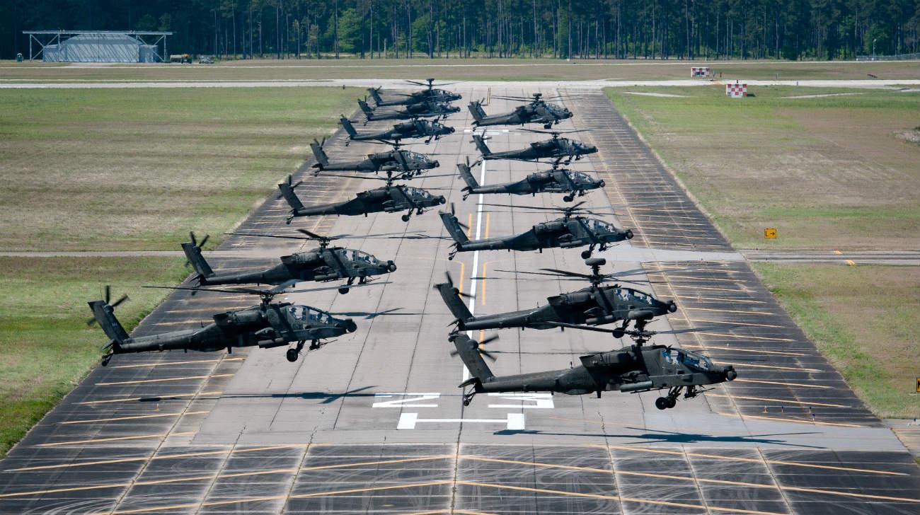 Ah-64 Apache Elephant walk | Military Machine