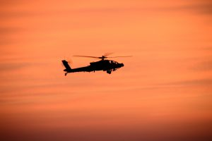 Apache Helicopter sunset