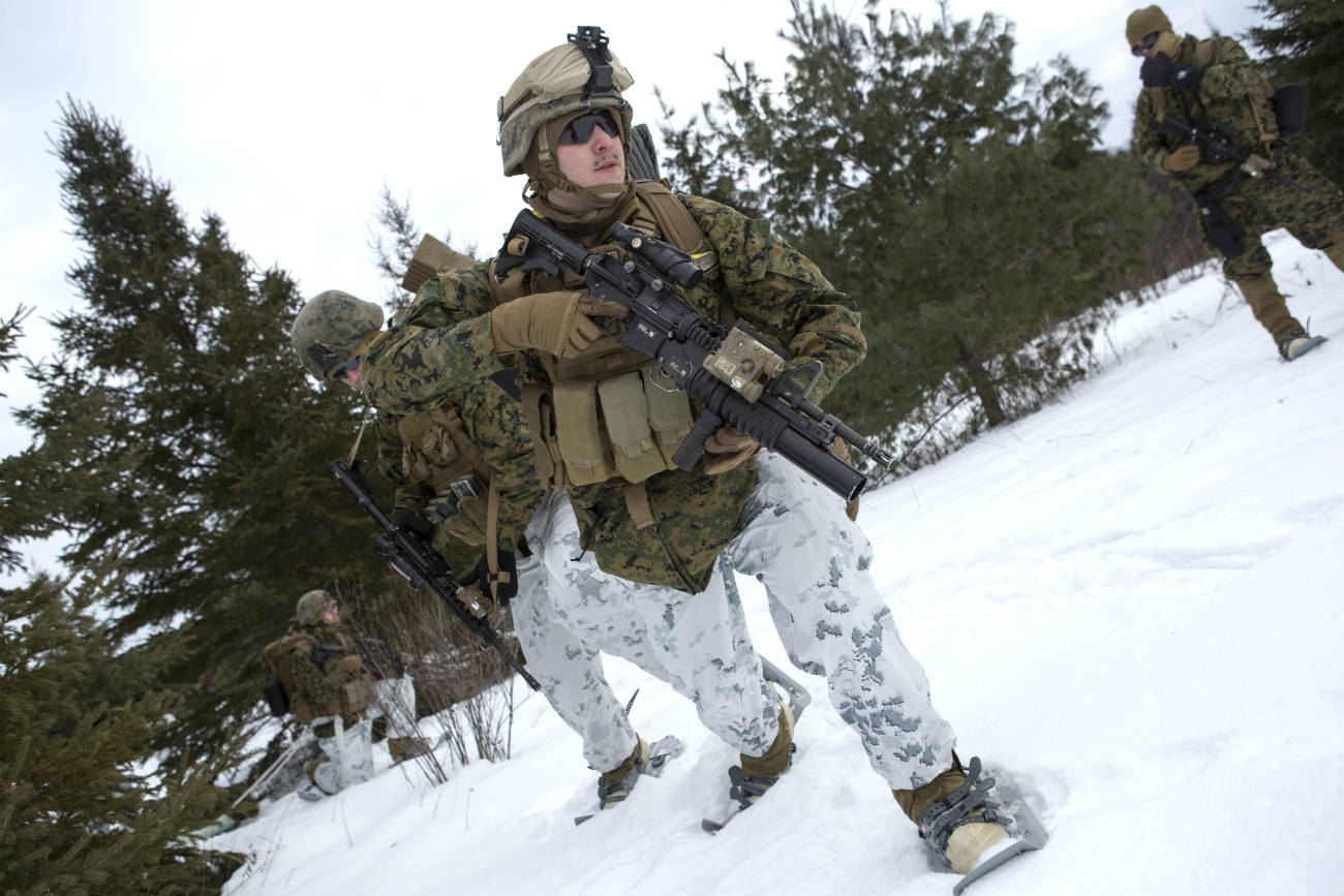 Armed Forces Canadian snow training